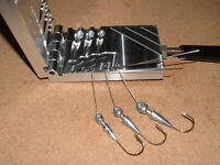 Freshwater Spinnerbait Hidden Weight -12  mold 3/8, 1/2, 3/4 oz CNC Aluminum