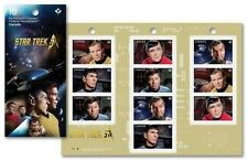 STAR TREK 50TH ANNIVERSARY 2016 BOOKLET OF 10 P CANADA STAMPS  MNH  KIRK SPOCK