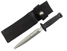 """Fixed-Blade Knife Dagger Boot Knife Double Point Full Tang + Sheath 7"""" Overall"""