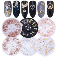 Glitter Crystal Smalto per Unghie Punte 3D Nail Art Decorazione Strass DIY