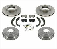 for 04-06 Tundra Front Brake Rotors & Ceramic Pads Rr Drums Shoes Springs 7Pc