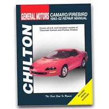 Chilton Repair Manual for 1993-2002 Chevrolet Camaro - Shop Service Garage fj