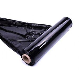BLACK PALLET STRETCH SHRINK WRAP 2 BIG ROLLS  CAST PACKING PARCEL CLING FILM