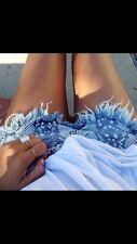 ONE TEASPOON sz 10 (or 28 us ) womens Taipan rollers denim shorts NEW [#378]