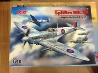 KIT MAQUETA SPITFIRE MK.VII BRITISH FIGHTER,1:48 ICM 48062