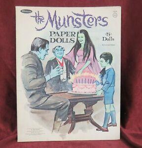 Vintage The Munsters Paper Dolls 1965 Uncut