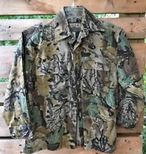 Ranger Kid's Youth M 12-14 Camo Hunting Shirt 2 Pkts Btns Front L/S Tree Leaves