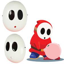 Mario Shy Guy Kawaii Cosplay Mask White Costume Props Halloween Party Adult Hero