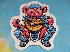 Grateful Dead Dancing Bear Baseball Catcher 4 Inch Window Sticker