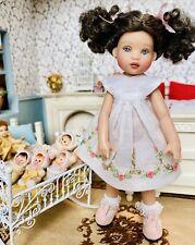 "Boneka 15cm Embroidered White Dress for 6.5"" Helen Kish Tiny Riley Doll"