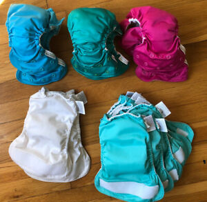 14 NEWBORN cloth diapers- Bum Genius & Little Joey (all in one diaper style)