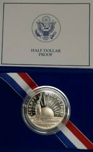1986-S Statue of Liberty Commemorative Proof Clad Half Dollar Coin in OGP