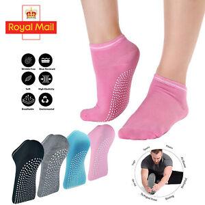 Yoga Fitness Grip Exercise Socks Sport Rubber Pilates Non Slip Sock Gym 4colours