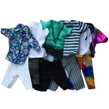 3Pcs Barbie Doll Boy Friend Ken Casual Wear Clothes Tops Pants Outfit X-mas Gift