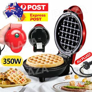 Mini Waffle Maker Non Stick Snacks Pancake Cake Breakfast Making Machine 350W AU