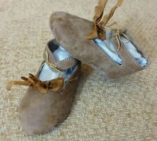 """105mm LEATHER SHOES  for ANTIQUE DOLL , """"Jumeau""""  Shoes , Dollmaking,"""