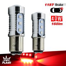 1157 LED 2835 Bright Red Flash Strobe Tail Brake Stop Rear Alert Safe Lights