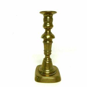19th Century English Brass Push up Candlestick