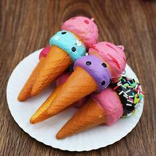 10CM Soft Jumbo Ice Cream Squishy Cellphone Kawaii Charms Straps Funny Toy