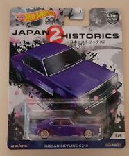 HOT WHEELS NISSAN SKYLINE C210 JAPAN HISTORICS 2 REAL RIDERS