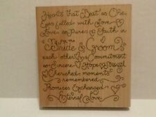 "Bride & Groom  Large Stamp 5"" x 5.5"", V 134 Wedding Card, JRL Design"