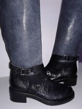 Alberto Fermani Boots Black/Grey Leather Tall Riding Boots Size 36  (A2)