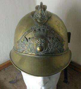 1895 Pattern Brass French Fire Helmet ''sapeurs pompiers de lourches'' PEDRIX#80