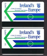 Ireland Eircom (Telecom Éireann) - Trial Cards IMI mint pair 20 units & 50 unit