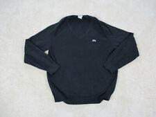 Lacoste Sweater Adult Small Size 4 Black Green Crocodile V-Neck Pullover Mens