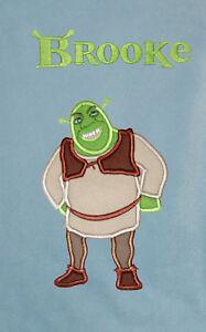 Shrek Personalised Applique Soft Fleece Blanket