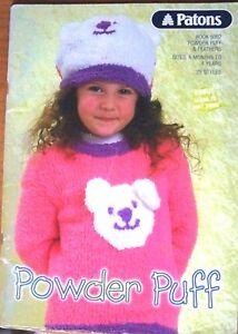 Patons Knitting Pattern, Powder Puff & Feathers Kids, Book 5002