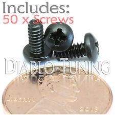 "#4-40 x 1/4"" - Qty 50 -  Phillips PAN HEAD Machine screws - Steel Black Oxide"