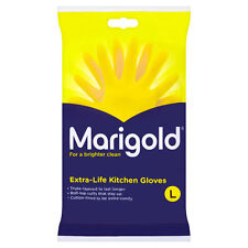 MARIGOLD Extra Life Kitchen Washing Up Rubber Glove YELLOW Size LARGE -FREE POST