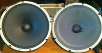 "Pair Vintage Heppner 12"" Alnico Speakers from Hammond Organ L-100 - 16 ohm each"