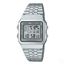 CASIO Vintage Retro Series World Time Silver Classic Watch A500WA-7DF