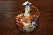 Antique 1878-1890 Crown Derby Porcelain Cobalt Blue Pitcher Ewer Jug Gilt Gold