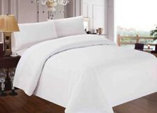 Clearance Hotel Made 100% Cotton White Superking Duvet Cover Set