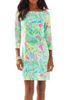 Lilly Pulitzer Sophie Dress Multi Tropical Storm  Upf 50+ Size XS New