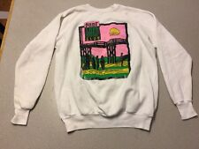 Men's Vintage Surf Club Long Sleeve Sweat Shirt SZ XL White Cotton PINK USA C24