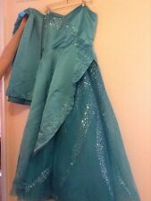 Turquoise Cassandra  stone size 14 sequin gown