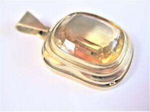 Pendant Gold 585 With Citrine, 0.2oz