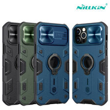 NILLKIN Shield For iPhone 12 Pro Max Case Ring Holder Slide Camera Armor Cover