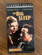 """The Big Sleep "" Vhs Humphrey Bogart Lauren Bacall 1945 Pre Release version"