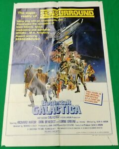 "Battlestar Galactica Movie Poster (1978) 27"" x 41"" original one-sheet folded"