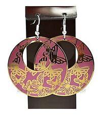 Super original boucles d'oreille style créole Papillon or bijoux fantaisie neuf