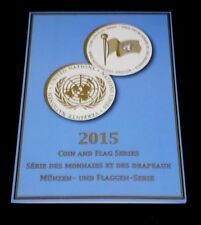 U.N. 2015, FLAG & COIN, SOUVENIR FOLDER, SHEETS /8, 3 OFFICES, MNH, NICE! LQQK!