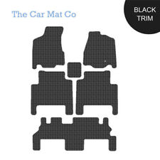 Fully Tailored Black Rubber Car Mats For Chrysler Grand Voyager 2008 to 2015