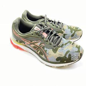 ASICS Women's Gel Pulse 11 Running Shoes 9.5 Camo Green/Blue/Orange 1012A467