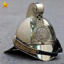 Brass Finish Antique Style Dublin Fire Man Fire Fighter Fire Chief Helmet CHL01