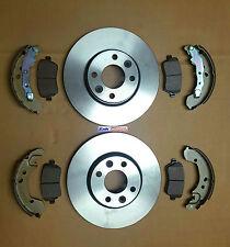 Nissan Micra K12 02-09 Front Brake Discs & Front Brake Pads & Rear Brake Shoes